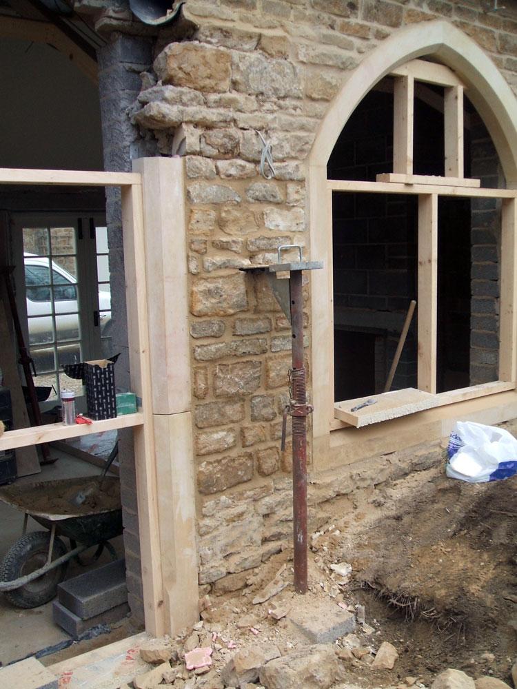 Doors and window openings in progress