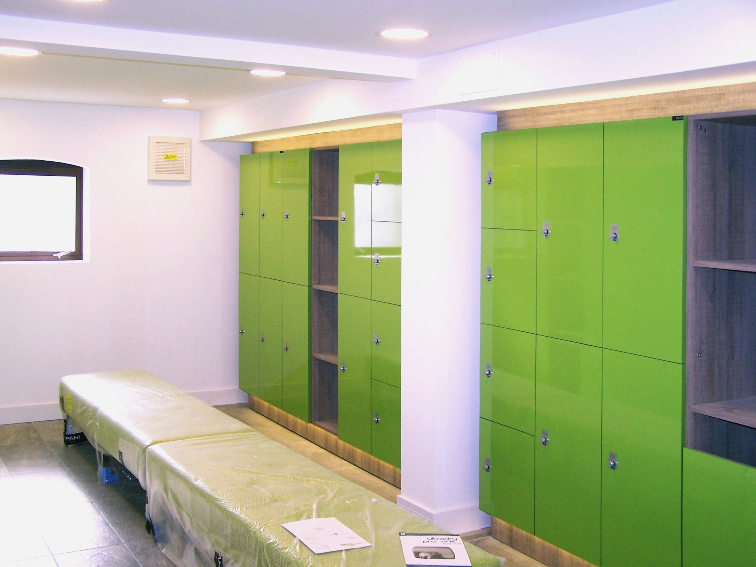 Changing room and lockers