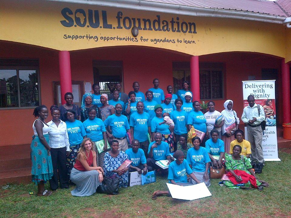 A recent cohort of Village Health Team (VHT) volunteers