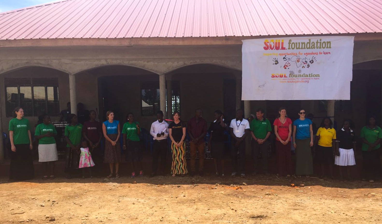 S.O.U.L. staff in front of the new Iganga community center