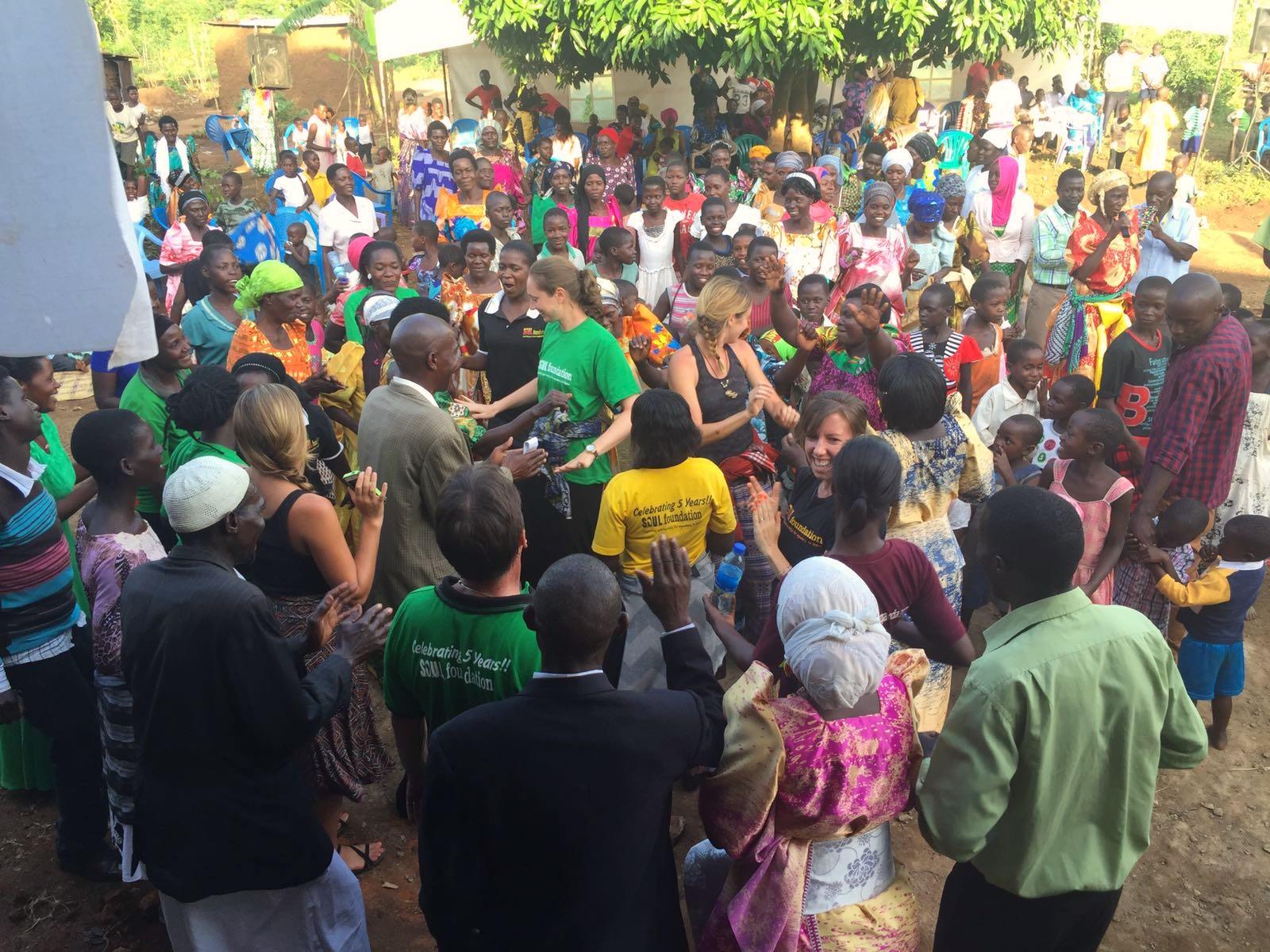 Iganga community members and S.O.U.L.staff celebrate the new initiative
