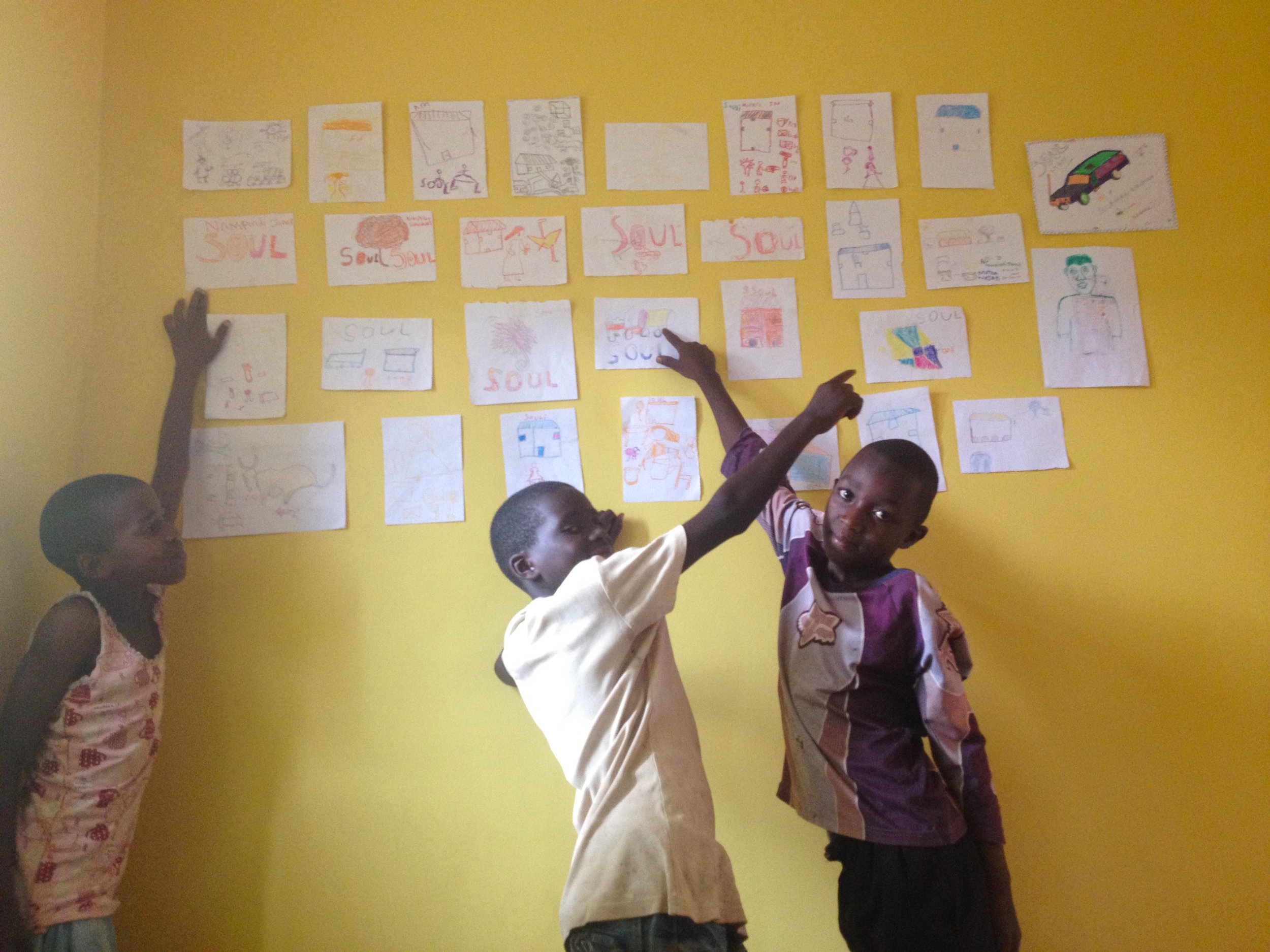S.O.U.L. students enjoying a visit to the Iganga Community Center during their holidays
