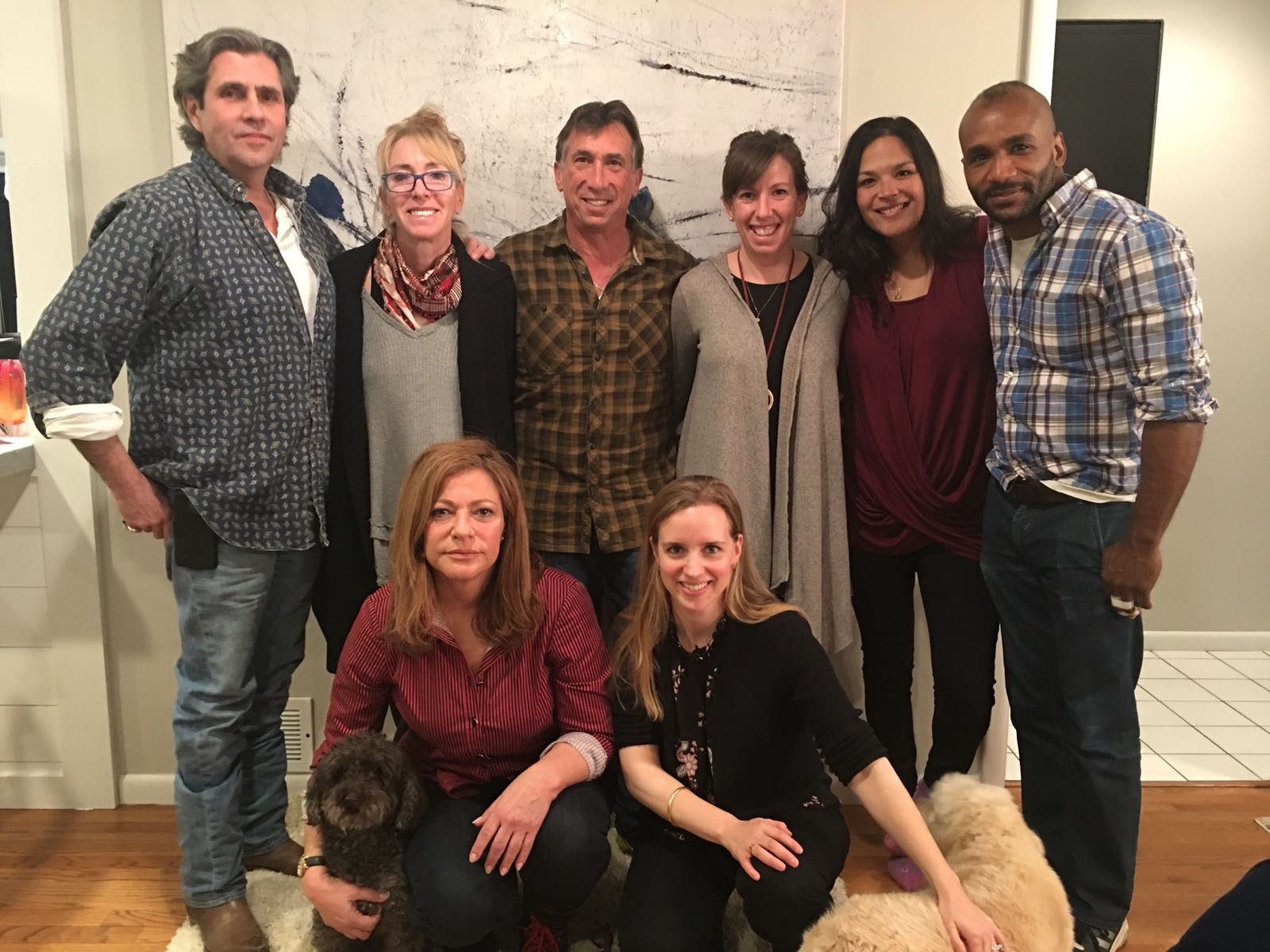 Top row:  Bob Greenfield, Diane Stern, Ken Stern, CEO/Co-founder Brooke Stern, Nathanya Ahamed, Omari Jinaki.  Bottom row:  Emily Fordham, Ellie Reiter