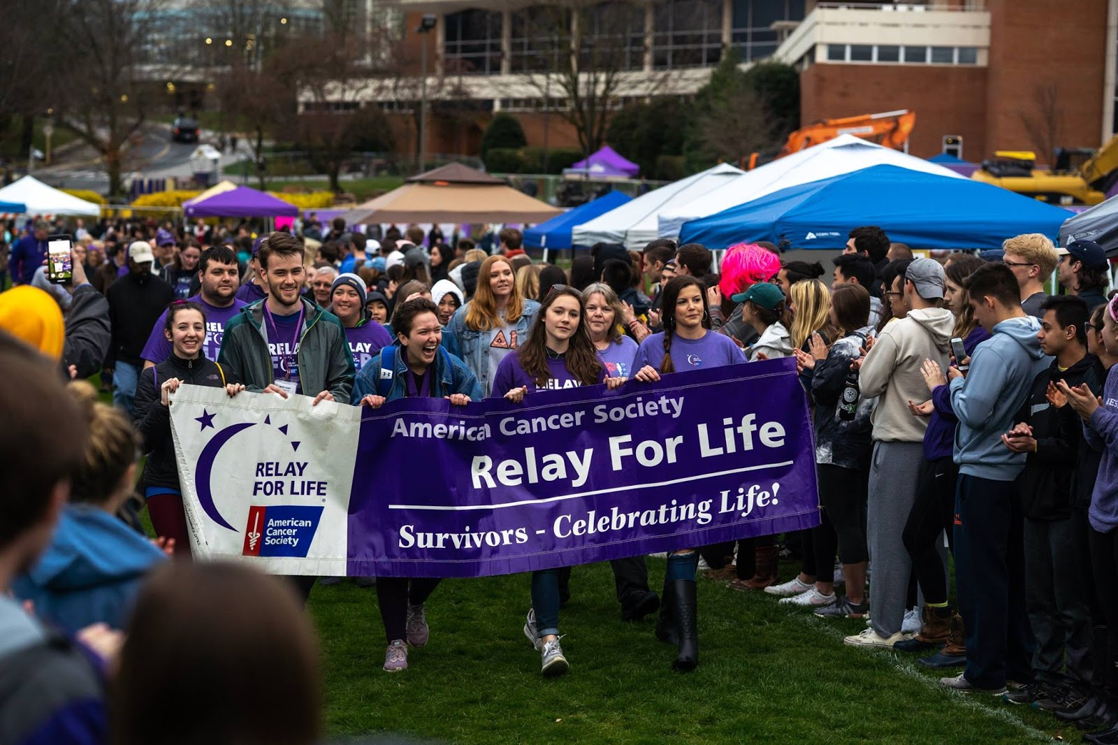 Survivor lap at jmu's relay for life
