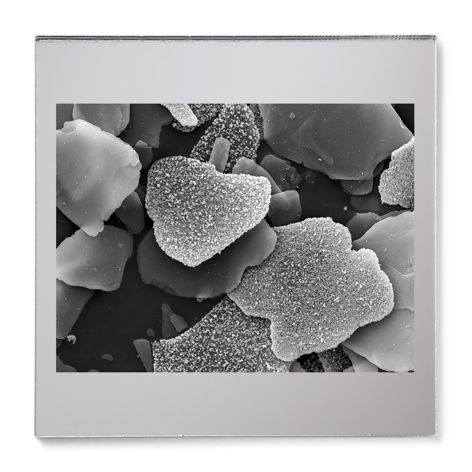 Mica Silver Pigment #3. Gelatin silver print mounted on acrylic. 2015