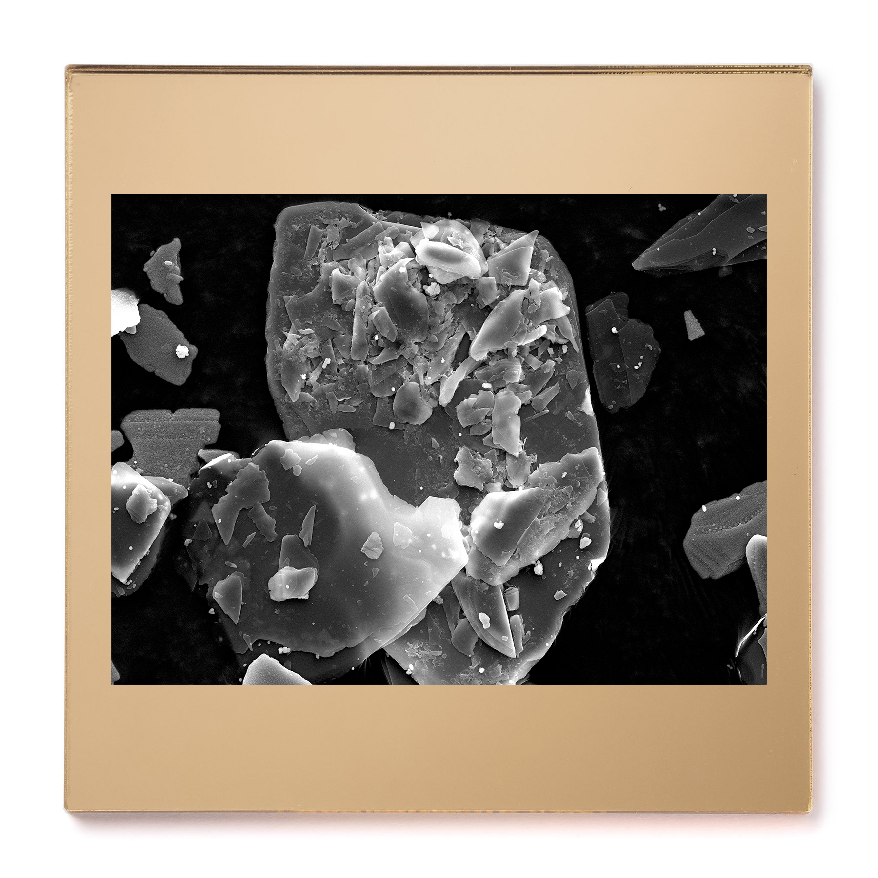 Gold pigment #2. Gelatin silver print mounted on acrylic. 2015