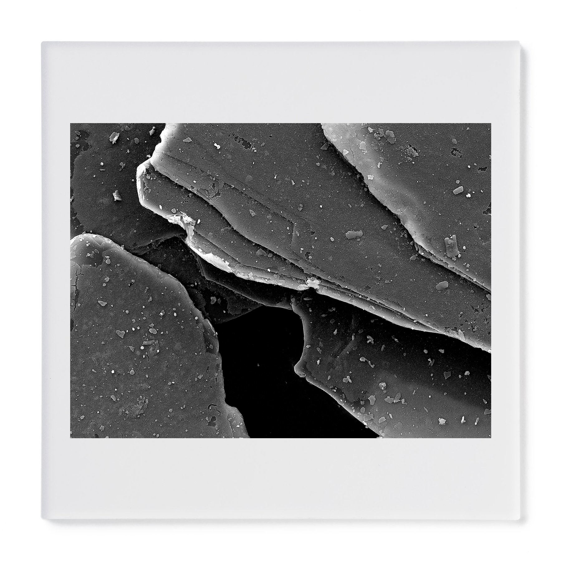 Mica diamond pigment #1. Gelatin silver print mounted on acrylic. 2015