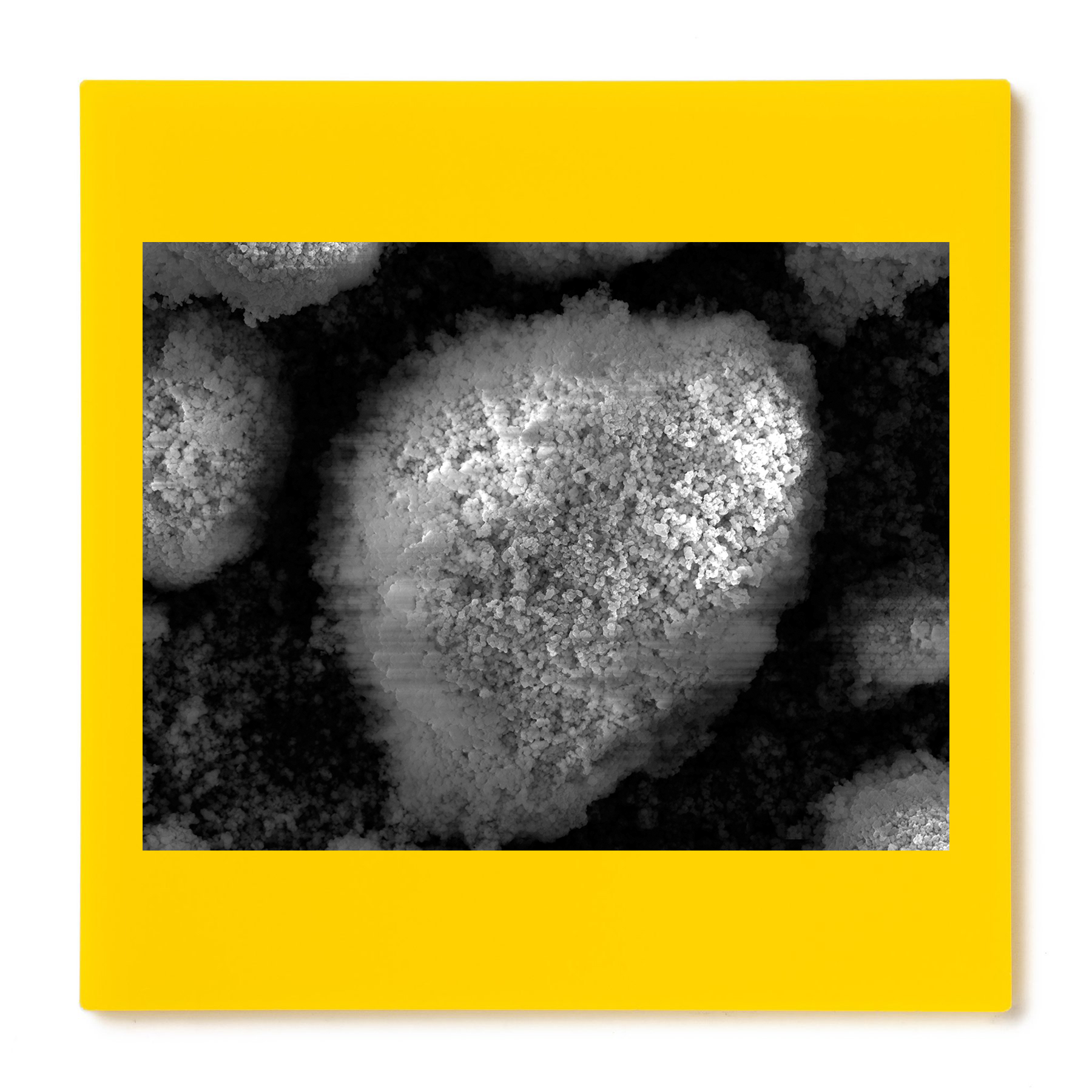 Yellow pigment #1. Gelatin silver print mounted on acrylic. 2014