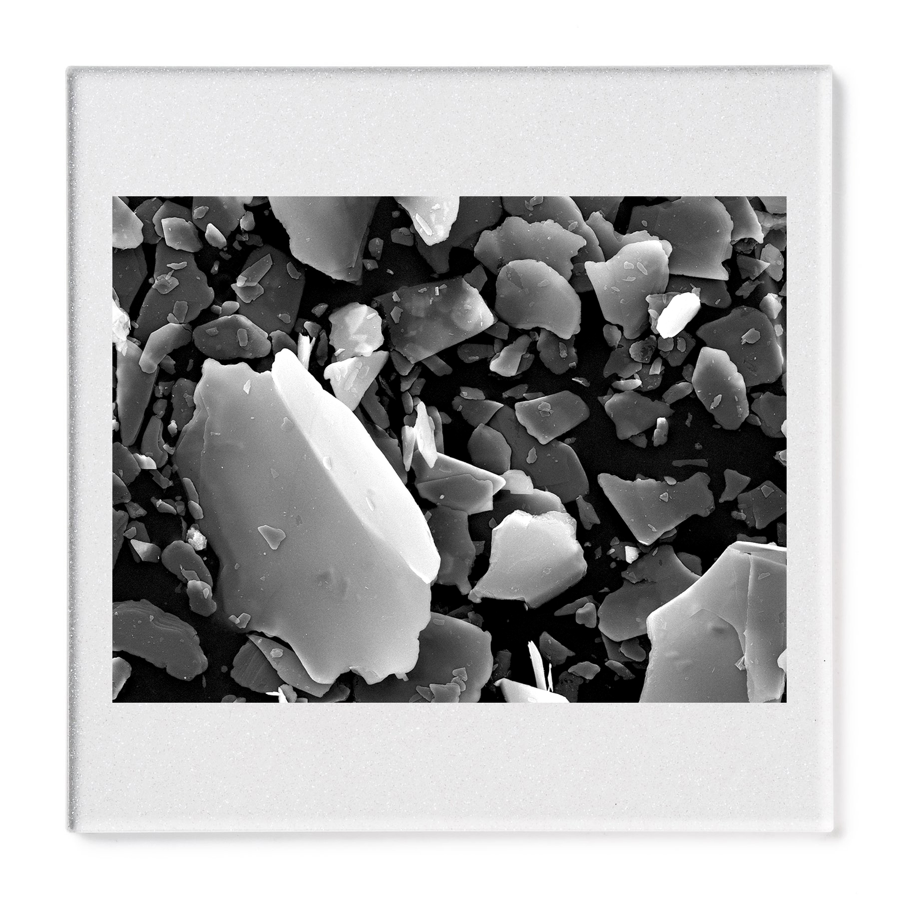 Pearl mica pigment #2. Gelatin silver print mounted on acrylic. 2015