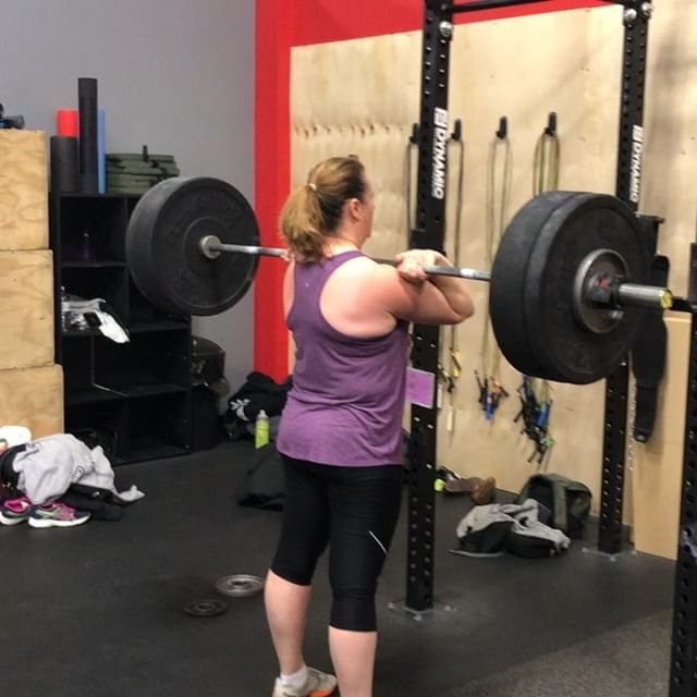 "Today's WOD: ""The Other Total"" 1RM Clean 1RM Bench Press 1RM Overhead Squat (or subbed with Front Squat) Just a snippet of all the PRs and big lifts from today! Nice work @amy.jeanshim @imwright.k @hyer7 @vaughn4479 @spencerhegenbarth Chrissy Fell, Rosie, Jeremy, and and Phonch!"