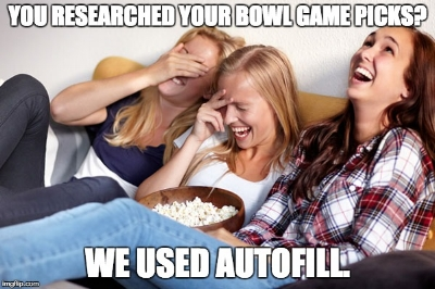 Do you like free stuff? Join our College Football Bowl Game Mania for a chance to win prizes. Better yet? You don't even have to know anything about college football.   Click the photo to play. Entries must be submitted by tomorrow morning.