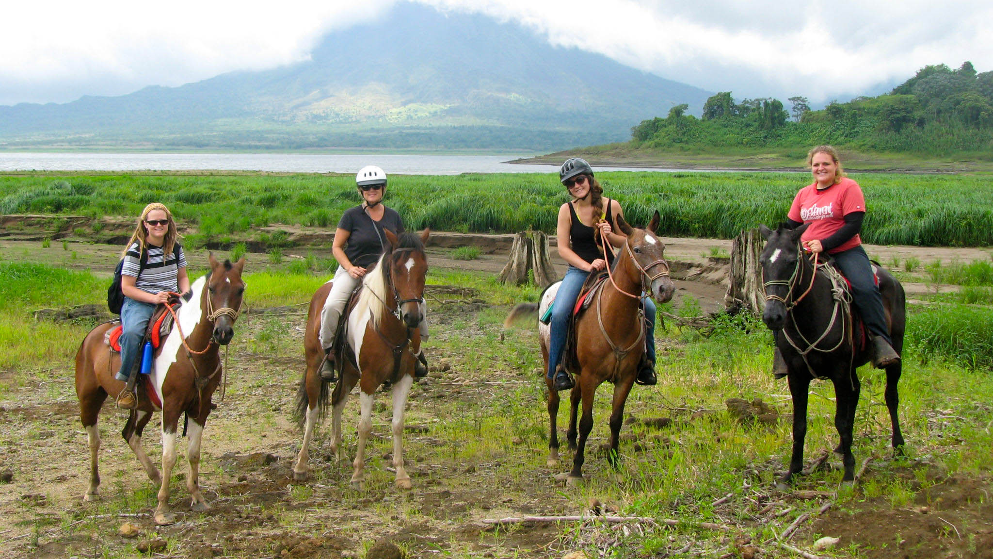 Horseback around the Lake and Volcano