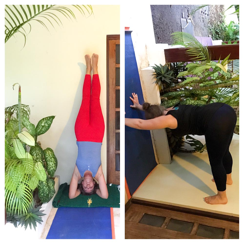 Shoulder Stands & Walking on Walls