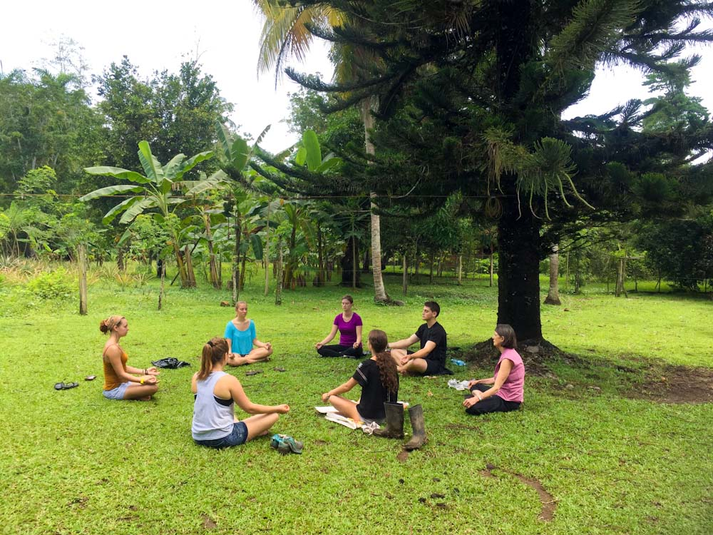 Meditation with guests & volunteers