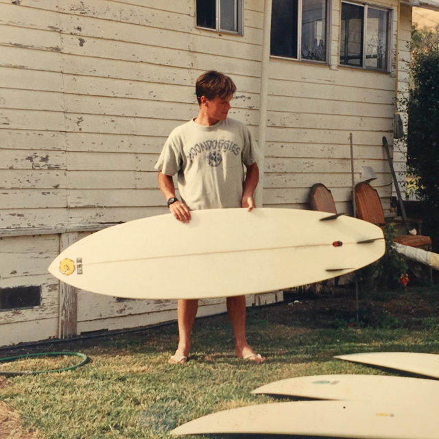 """One of the first Stubb-Vectors, a 6'8"""" X20.5"""" X 2.4"""" back in 1992."""
