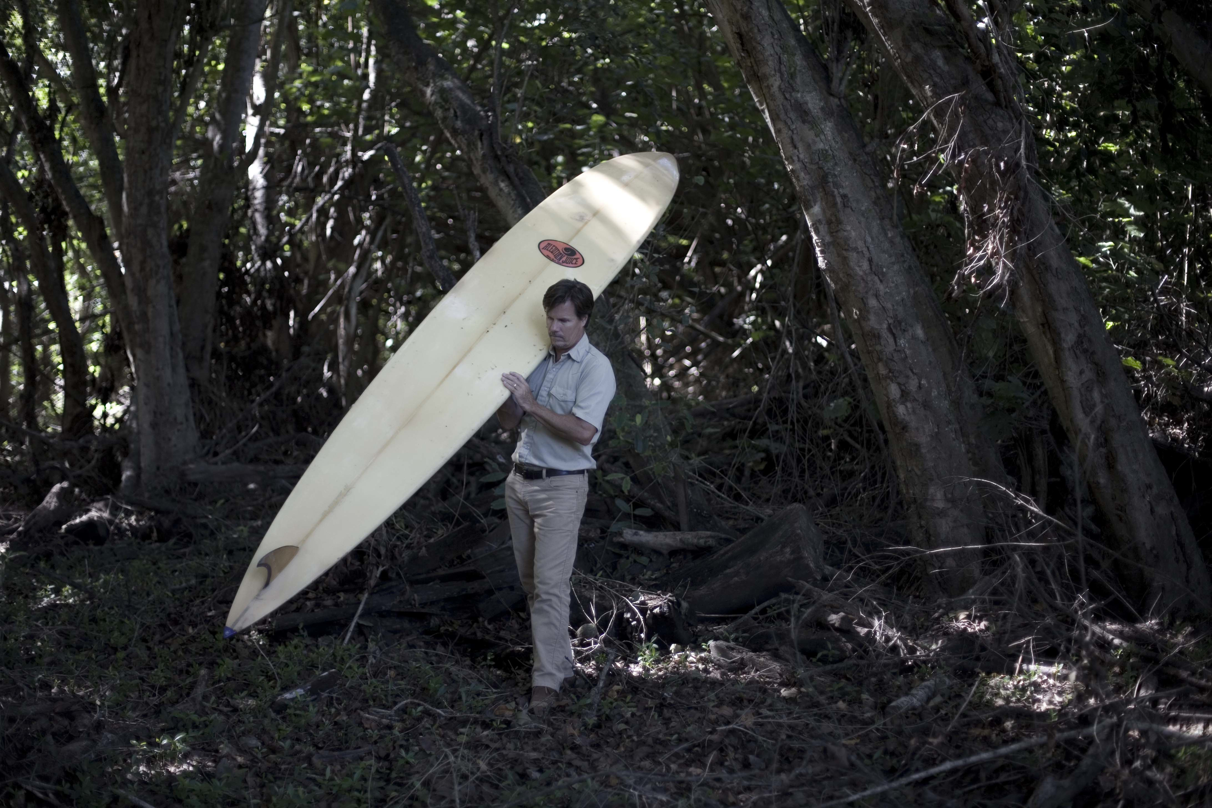 """12' 0"""" Makaha Point Doomsday Machine made in 1997 for that one huge Greg Noll day ... but Doomsday never came and this board became a 3-prong dive board and surfboard-class paddleboard racer -- and stepping stone to the first PSV."""