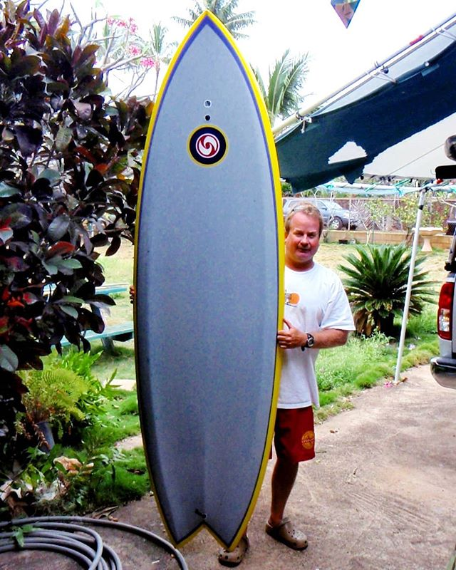 "Wayback Wednesday with @kskmakaha District IV Grand Poohbah Wes'side Water Safety, with SUPah Short 7'10"" Stealth Module, glassed by Kimo Kauihou in Makaha circa 2009. #kongsisland #noskeddumgogeddum #iftheresaparkinglotinfrontofititaintsurf"