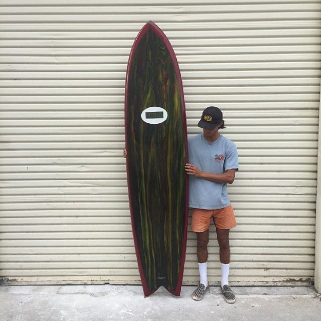 "Quartet of WMD for @pablo_fernandez_311  1. 8'0"" Maverick's Fish quad fin N@16.0"" X 22.0"" WP X T@17.0"" X 3.85"" thickness. Nose Rocker 5.25"" X 2.375"" Tail @usblanks 93A Superblue Natural Rocker 2. 9'0"" Mākaha Machine single fin N@14.5"" X 22.125"" WP X T@13.25"" X 4.0"" thickness. Nose Rocker 5.75"" X 2.65"" Tail @usblanks 100BG Superblue Natural Rocker 3. 10'0"" Mākaha Machine single fin N@14.7"" X 22.25"" WP X T@12.75"" X 4.125"" thickness. Nose Rocker 5.85"" X 3.4"" Tail @usblanks 100BG Superblue –2"" Nose Rocker, –1/2"" Tail Rocker 4. 12'0"" Megalodon Mākaha Missile single fin. N@13.7"" X 22.25"" WP X T@11.25"" X 4.0"" thickness. Nose Rocker 5.75"" X 3.75"" Tail @usblanks 118BG Superblue –2"" Nose Rocker Glassed by the illustrious, industrious Wonkaville elves @watermansguild"