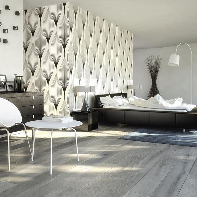The wallpaper pulls this space together nicely. This is a perfect room on a budget! #interior #interiors #interiordesign #interiorstylist #interiordesigner #interiordecor #revivaldesign #mystyle #instastyle #instadesign #instaportland #portlandinteriordesign #bedroom #bedroomdecor #bedroomdesign #contemporary #contemporarydesign #modern #moderndecor #moderndesign #blackandwhite #creativity #wallpaper