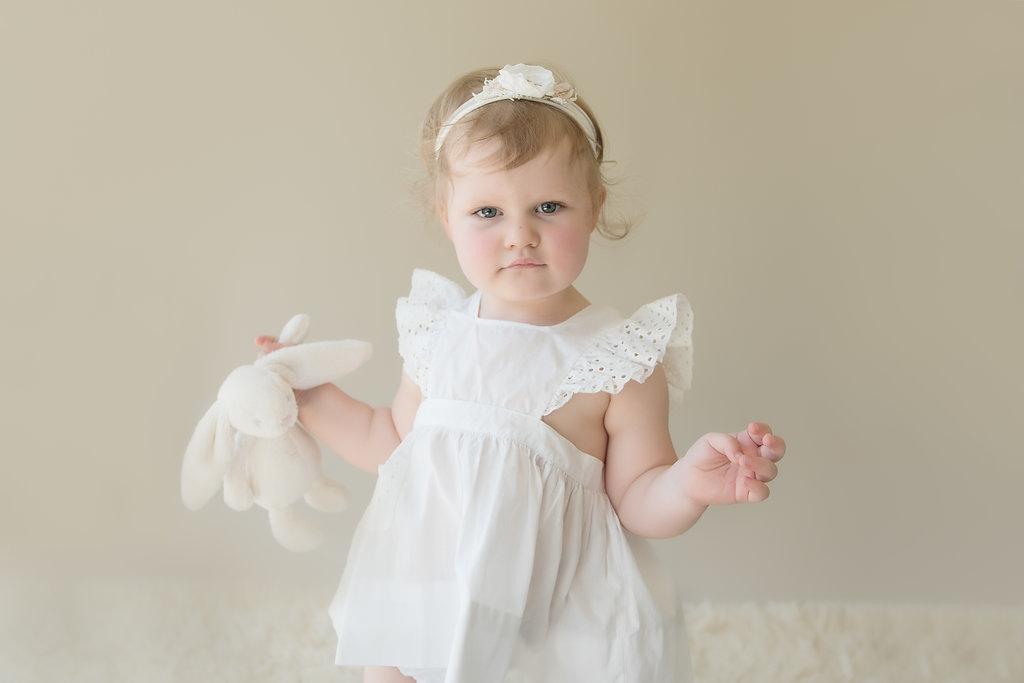 seattle children's milestone photographer toddler milestone session two year old girl milestone