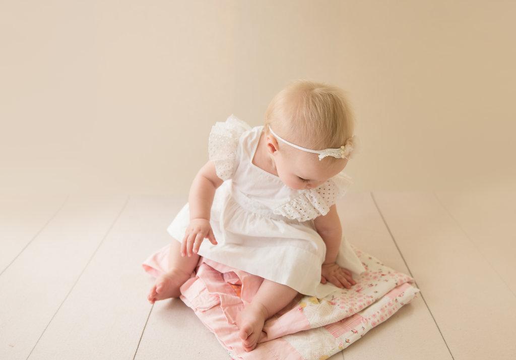 seattle milestone photographer newborn baby photographer one year milestone session vintage styled session