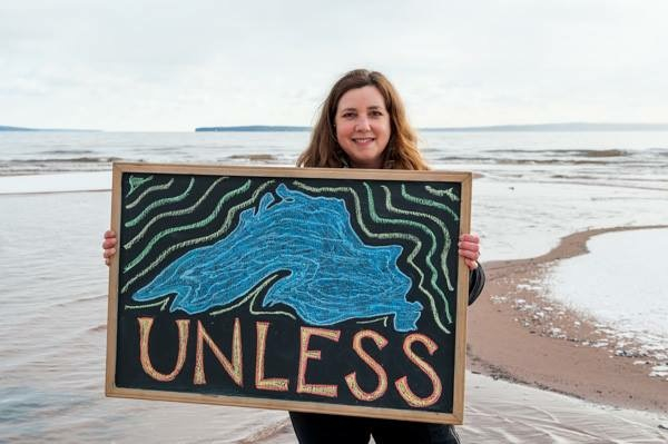 Words for Water Project photo,  Sioux River on Lake Superior...where the word of the Lorax becomes perfectly clear.