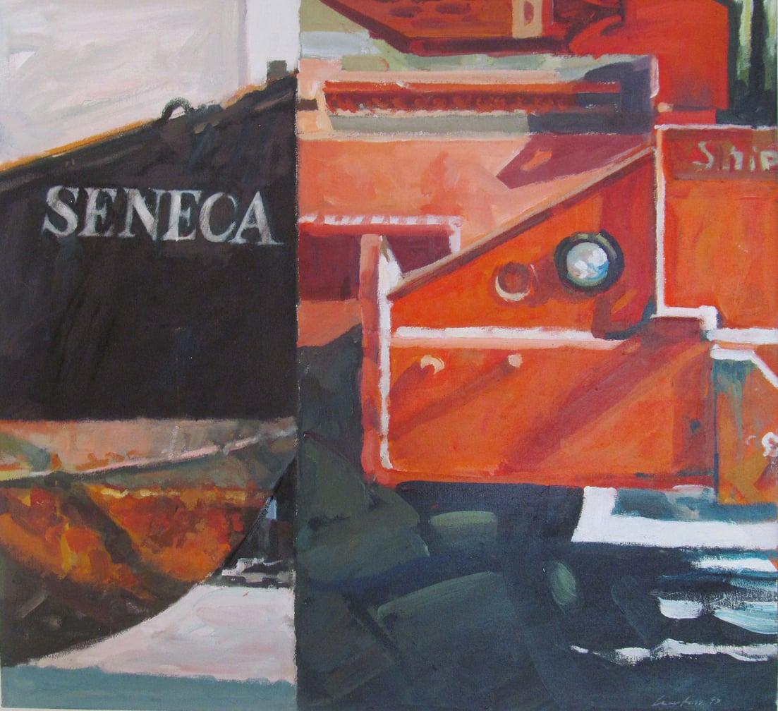 "Seneca, acrylic on canvas, 25 1/2"" x 27 5/8"""