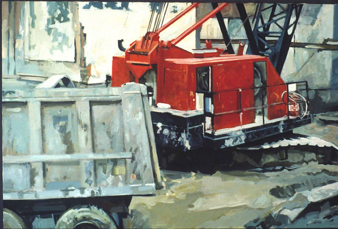 "Big Red, acrylic on canvas, 40 1/2"" x 60 1/4"", 1990"