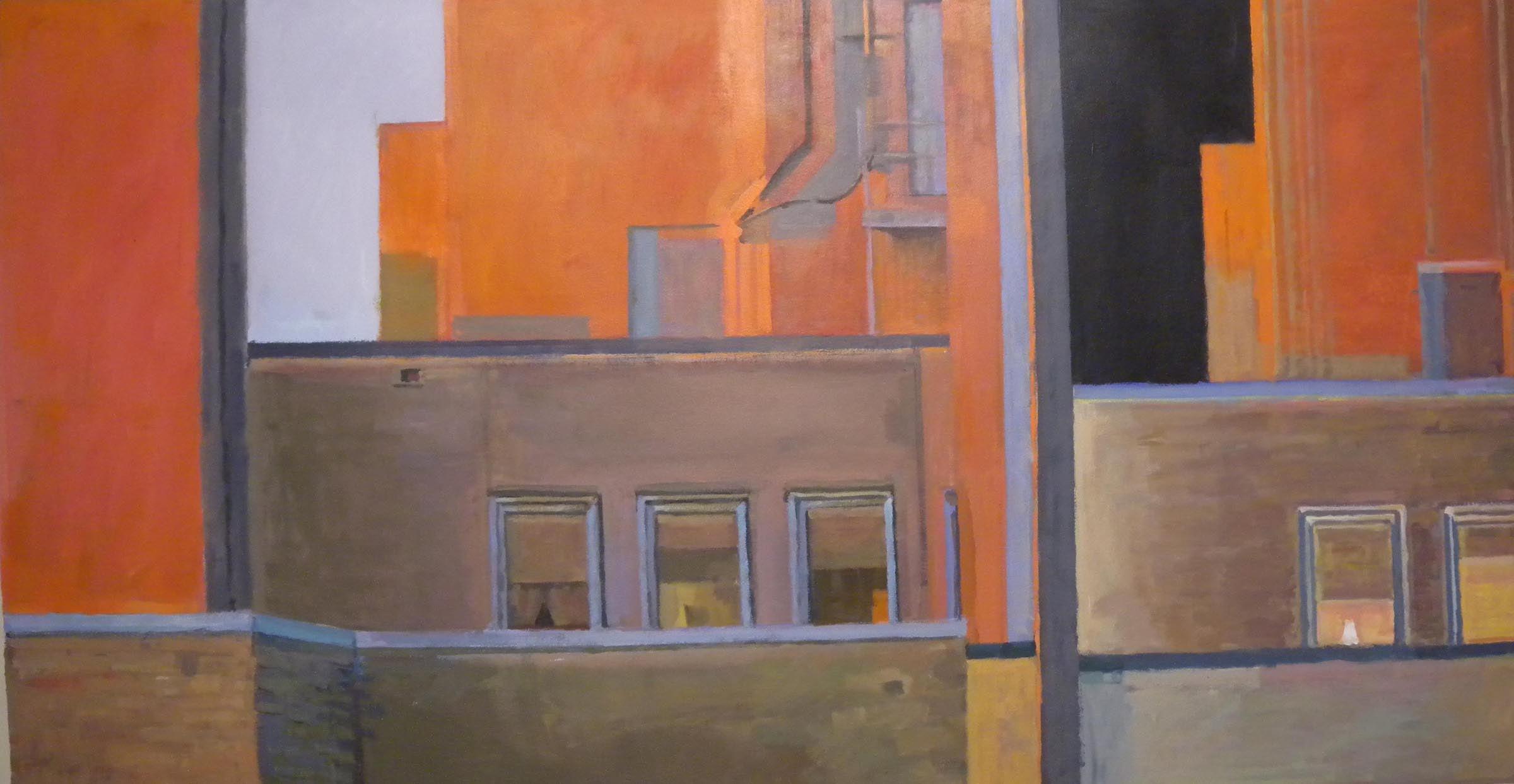 """Bee Bee (split) #3,acrylic on canvas,31 1/4"""" x 59"""""""