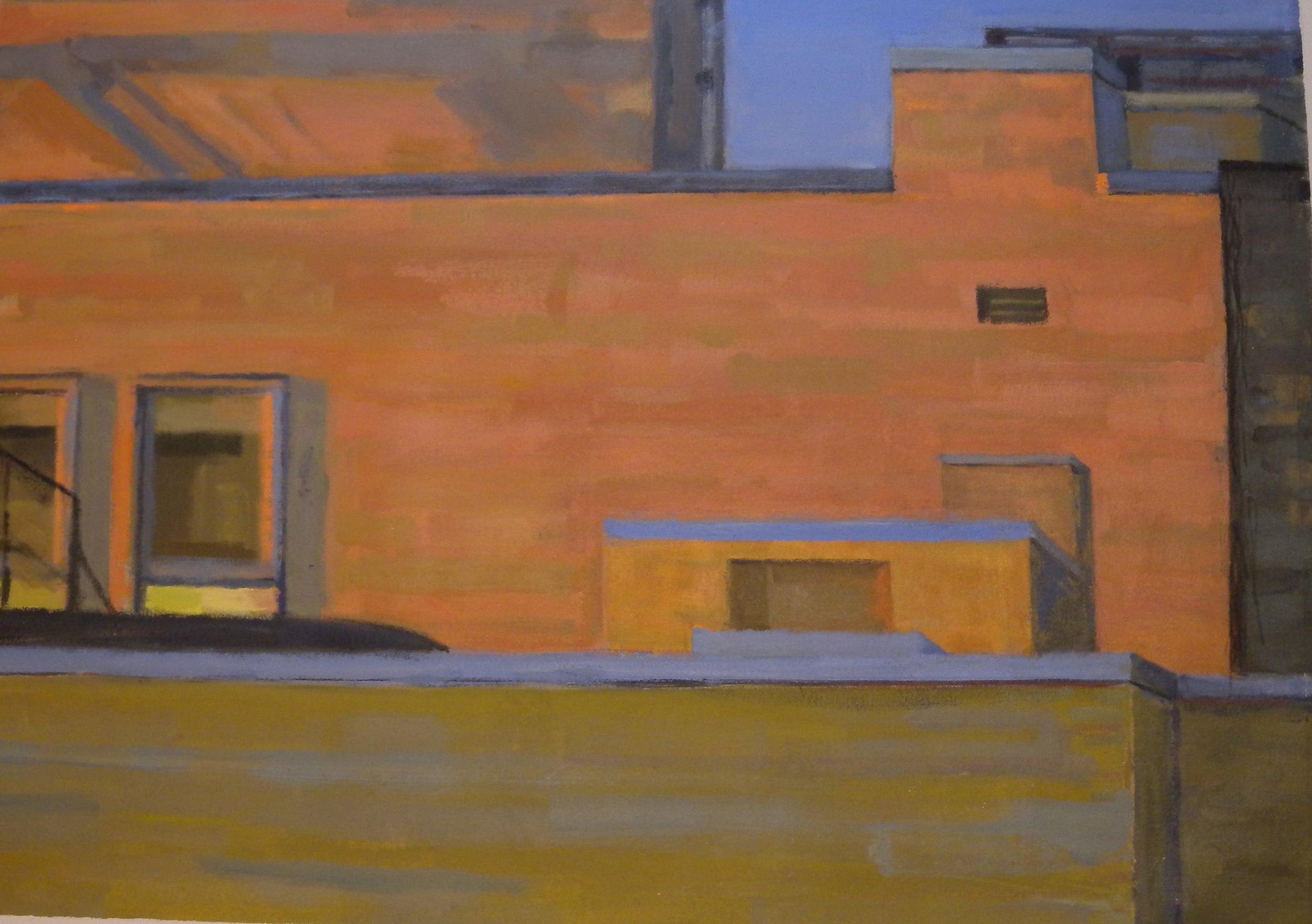 """Bee Bee Orange #5,acrylic on canvas,24"""" x 34 1/4"""""""