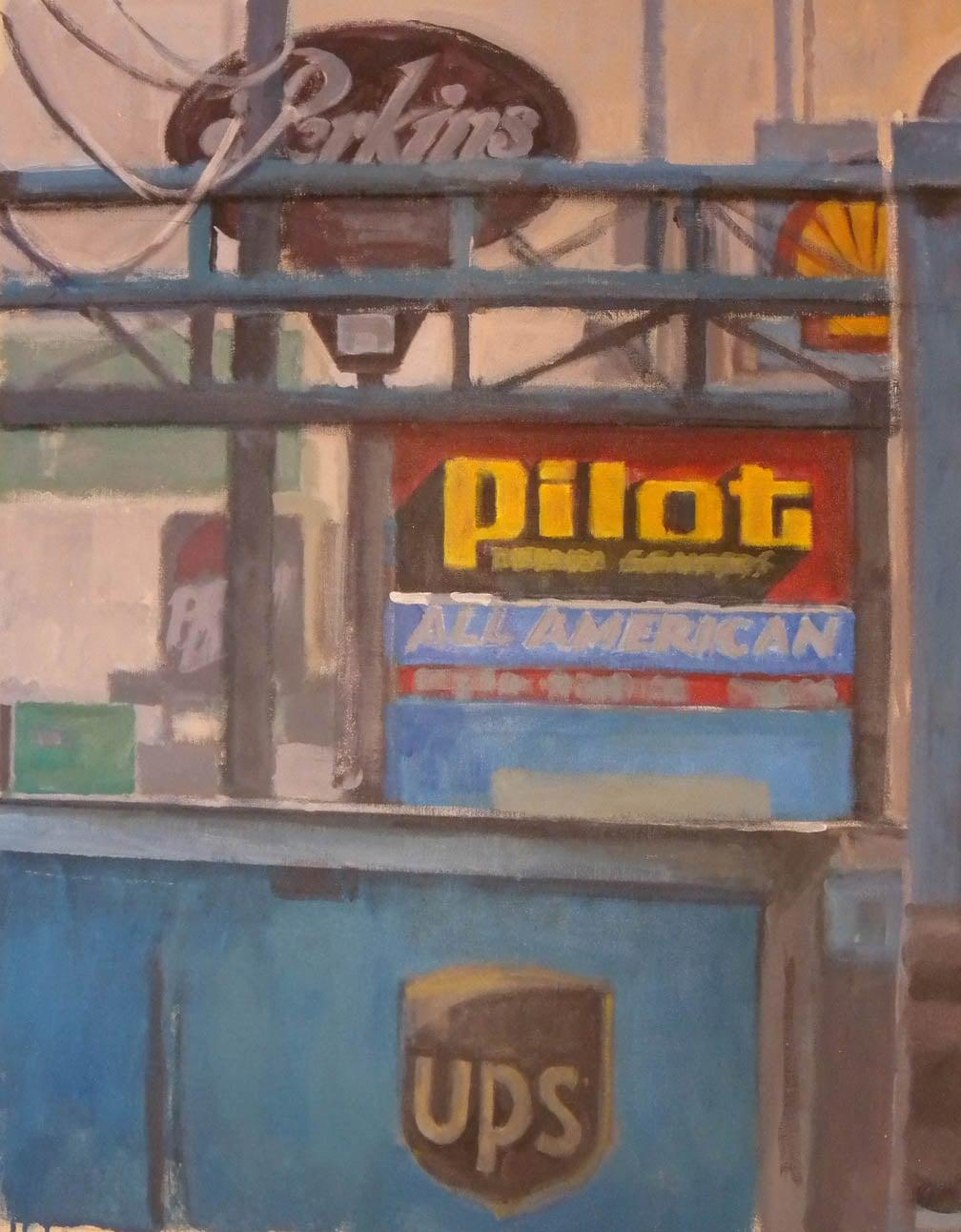 "Pilot All American,acrylic on canvas,37"" x 29 1/2"""