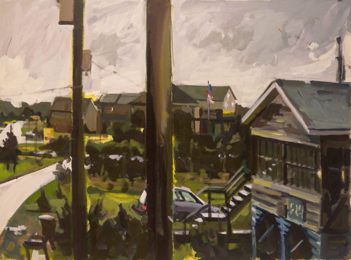 "Outer Banks Storm Sky, acrylic on paper, 22"" x 30"", 1994"