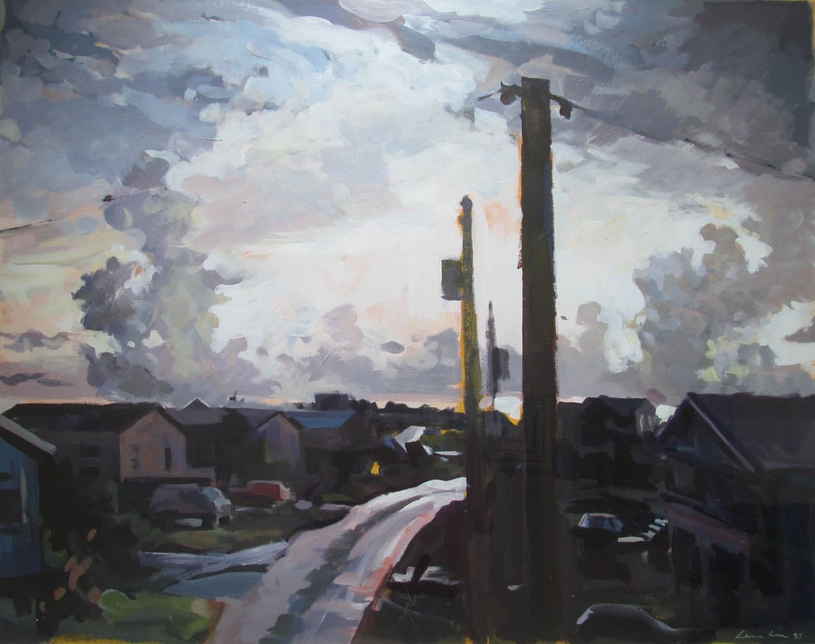 "NC Storm, acrylic on paper, 29 1/2"" x 37 1/2"", 1993,  Private Collection"