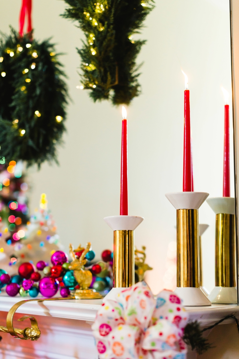 These candle holders were an At Home clearance find and I can't ever get enough of taper candles. They are so pretty!