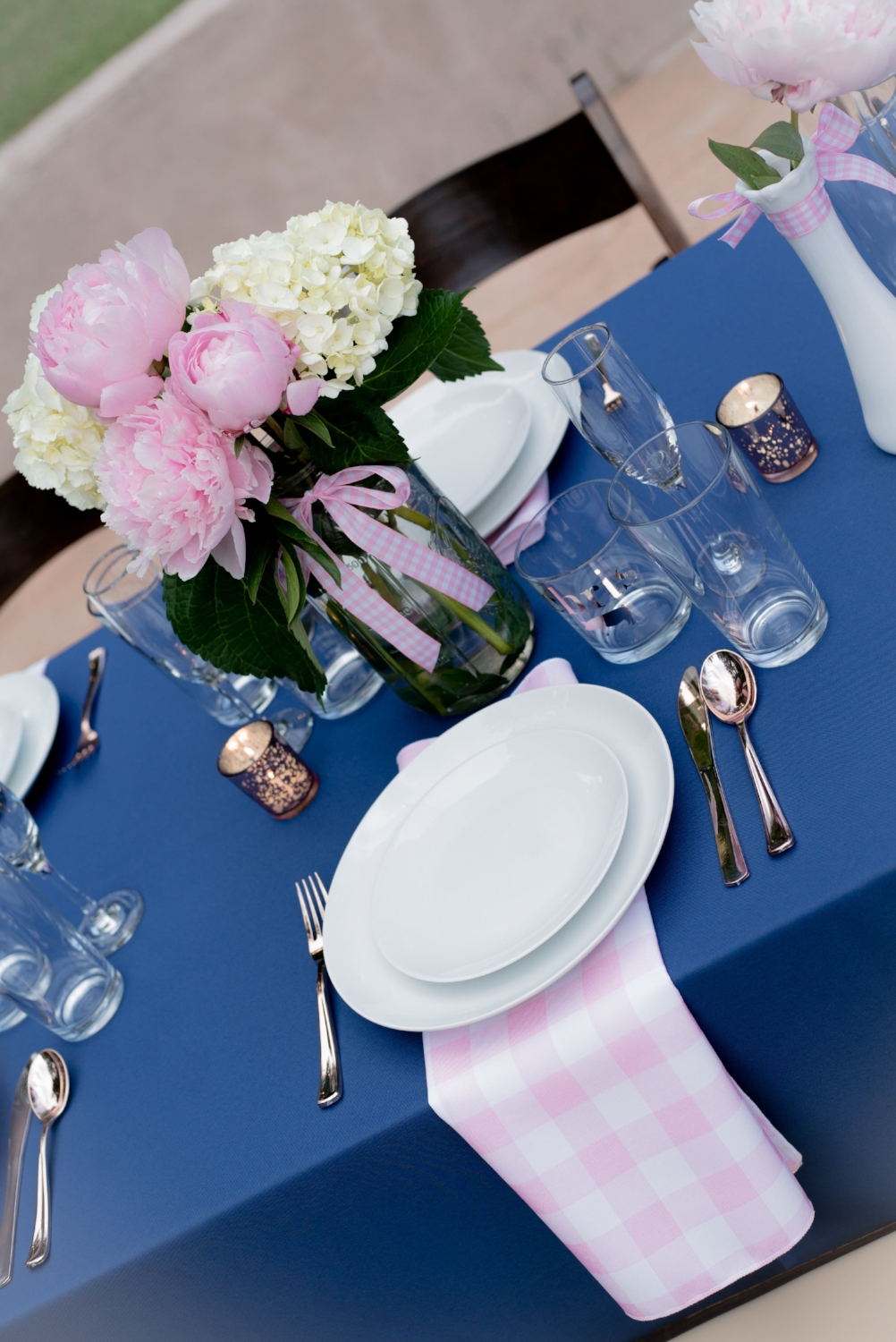 Pink Gingham Placesetting