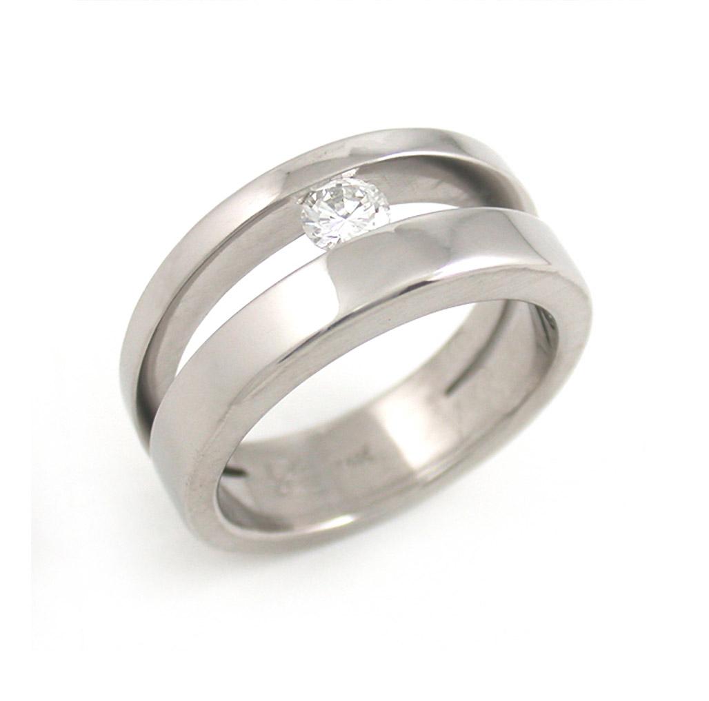 Asymmetric Channel Set Diamond Ring