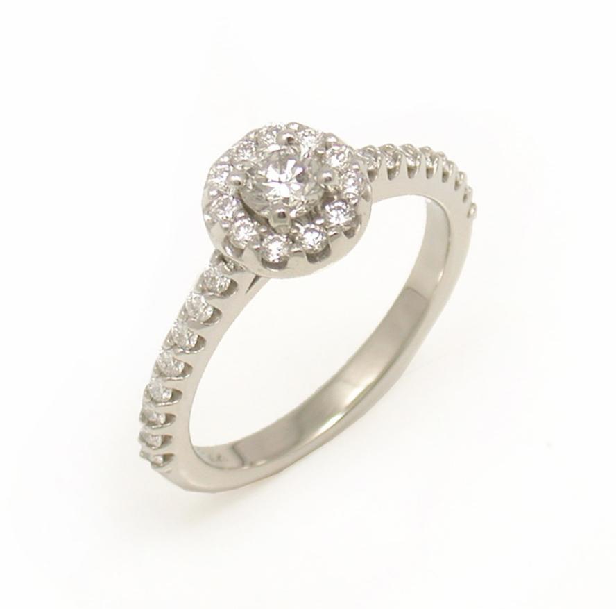 Diamond Halo Ring - Shared Prong