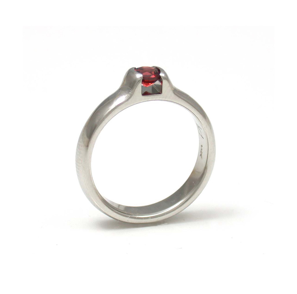 Red Sapphire Diana Ring