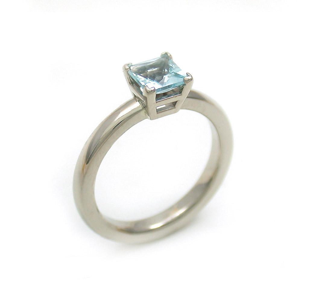 Aquamarine Princess Ring
