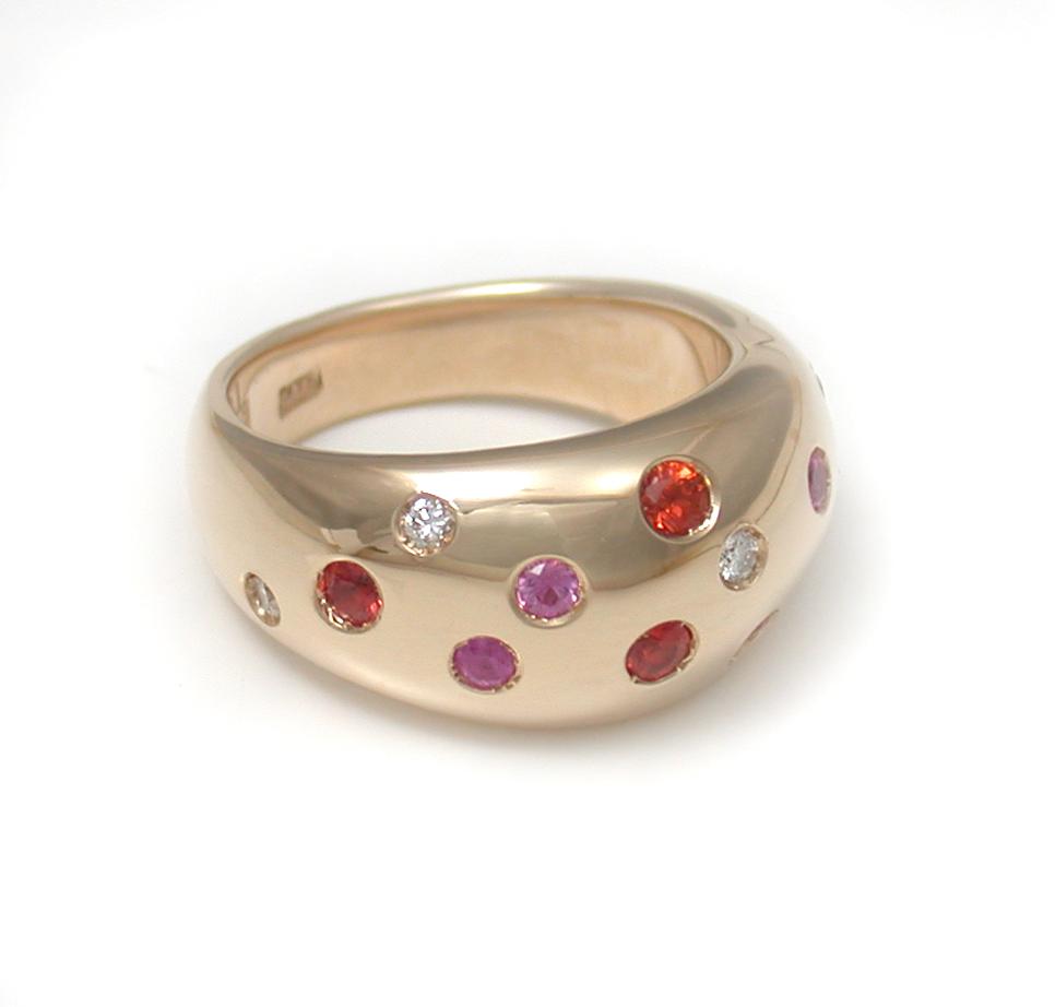 Sapphire + Diamond Studded Ring