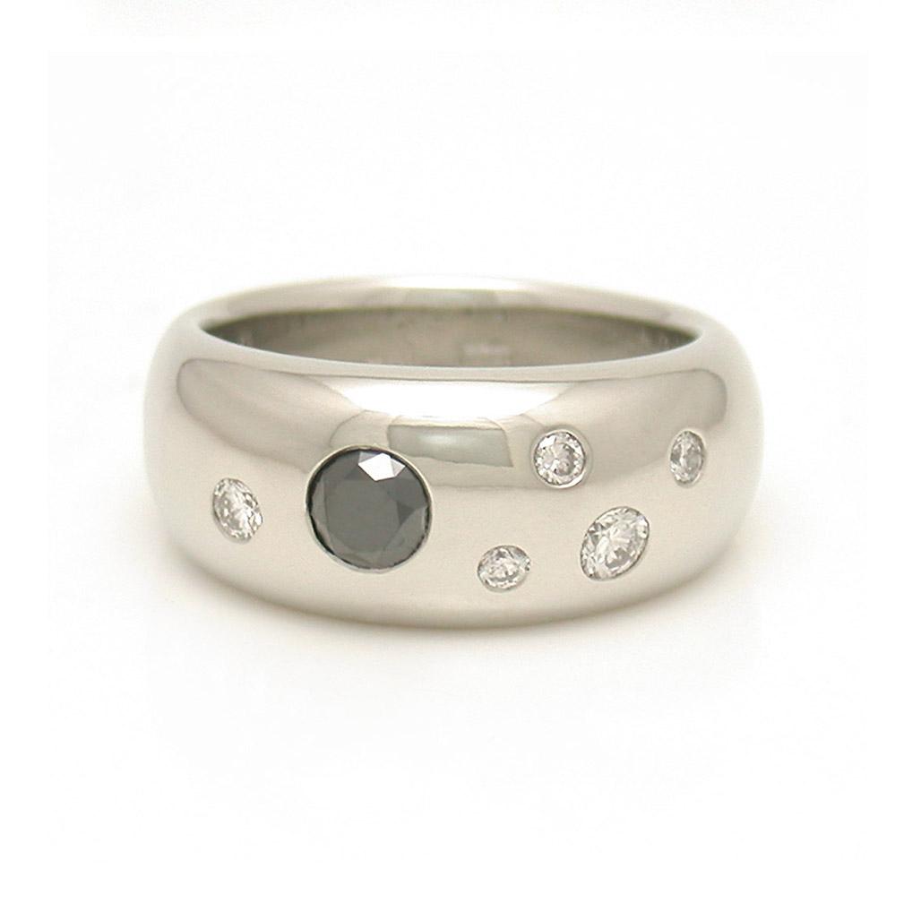 Black Diamond Studded Ring