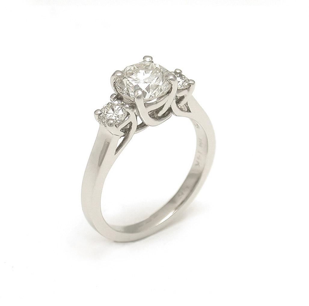 Trelis Style 3-Stone Diamond Ring