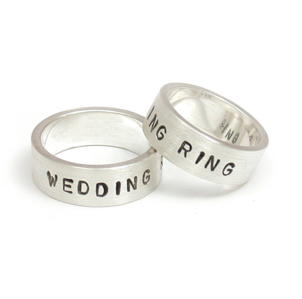 Hand-Stamped Wedding Rings