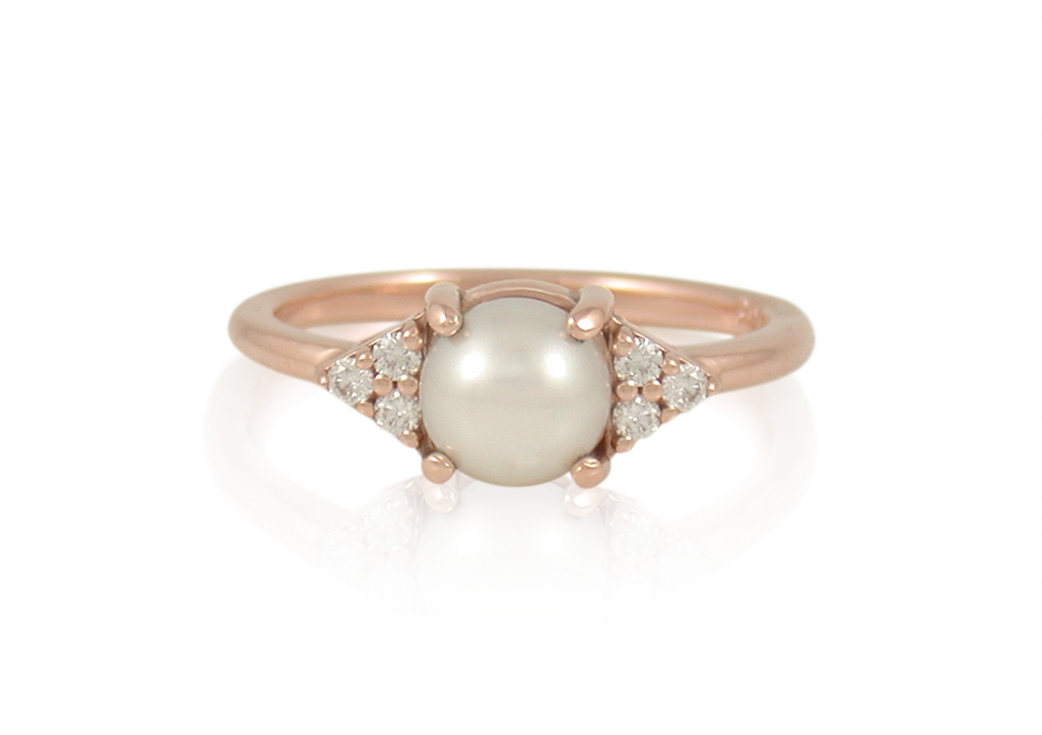 freshwater-pearl-canadian-diamond-cluster-rose-gold-engagement-ring