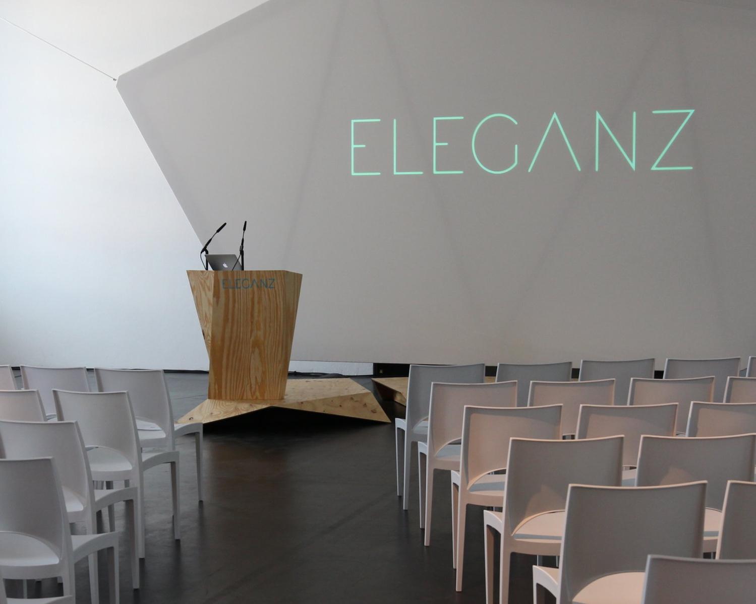 Triad - ELEGANZ Konferenz   STAGE DESIGN I SPEAKER PODIUM