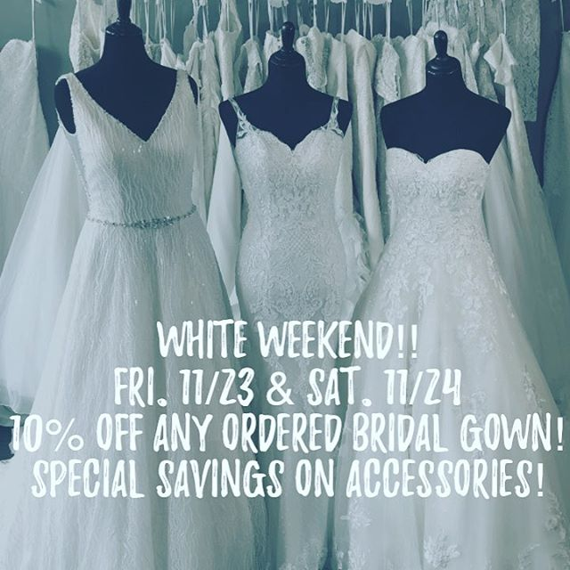 Rouge Bridals annual white weekend!  Don't miss out!