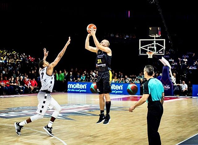 Respect all, fear none!  Sad to have lost in my home country.  Nevertheless, very proud about our way to the finals. @cbcanarias 🖤💛 Congratz to the @basketballcl and the @antwerpgiants for the superb organisation. Thanks to you all that were present and also at home routing for us, family, friends, fans... I thank you for the heartwarming support. 👏 #pag #bcl #vamoscanarias #final4 #basketballchampionsleague #blackandyellow