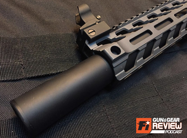 """The narrow inside diameter of 1.34"""" will rule out some suppressors if you're planning on overlap, luckily the ECO/EVO 9 by AAC is 1.25"""" wide."""