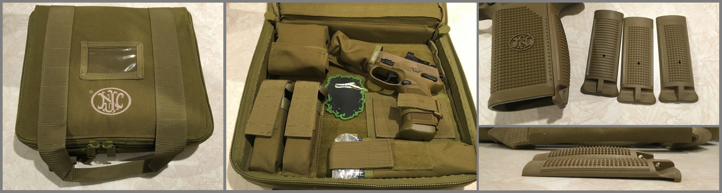 The FNX comes standard with 4 magazines, differing backstrap sizes and textures and a case to carry it all.