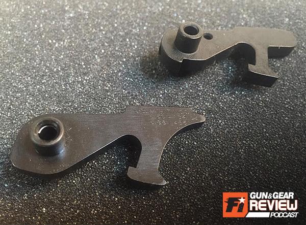 Left: M-K IIA2 hammer. Right: RRA Hammer